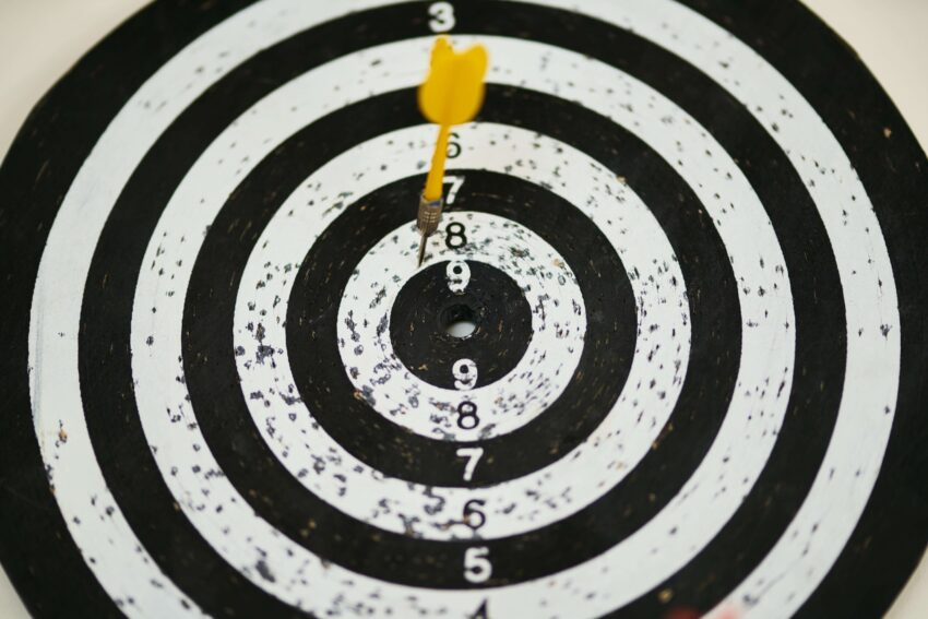 target with numbers and arrow